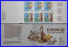 SWEDEN 1990 EUROPA-CEPT booklet SC#1812a MNH for DIFFERNTLY normal FV$2.70