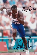 Linford Christie Hand Signed Olympics 12x8 Photo Great Britain 3.