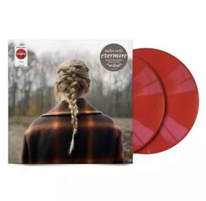 Taylor Swift evermore vinyl Target exclusive red colored