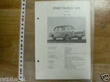 FO09-FORD   TAUNUS 12M TYPE P4 1963-1964-TECHNICAL INFO