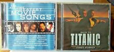 """Two CDs """"The All Time Greatest Movie Songs"""" 1999  & """"Back To Titanic"""" 1998"""