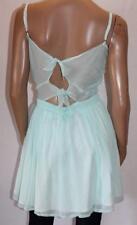 FAITH & LOLA Designer Blue Chiffon Sweet Heart Dress Size 12 BNWT #sl88