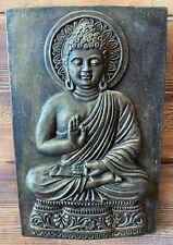 STONE GARDEN GOLD BRONZED BUDDHA ORIENTAL WALL PLAQUE HANGING GIFT ORNAMENT