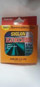 Sunline Siglon FC200 100% Flurocarbon Fishing Line 200m Spools