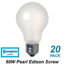10 X 60w Pearl Light Globes / Bulbs E27 Screw Halogen Warm White Dimmable A60