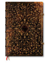 Paperblanks Lined Writing Journal Black Brown Gold Grolier Grande Size 8x11