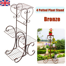 4 Tier Plant Pot Stand Flower Display Shelf Rack Garden Home Decr Indoor Outdoor