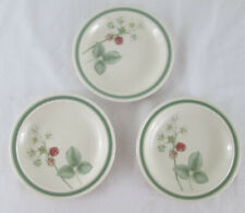 "Wedgwood Raspberry Cane Set of 3 Small Plates 6.25"" Salad Side Vintage Dining"