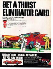 1969 COCA-COLA  COKE - COUGAR SUPER CAT ELIMINATOR ~ ORIGINAL PRINT AD