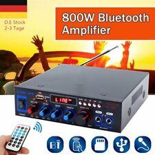 HiFi bluetooth Audio Auto Amplifier Verstärker Stereo 12V/220V 800W USB FM Audio