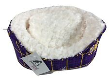 NEW Pampered Pets X Small Dog Bed LSU Louisiana State University Collection Oval