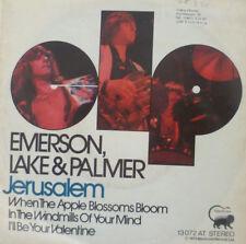"7"" 1973 KULT IN MINT- ! EMERSON LAKE & PALMER Jerusalem"