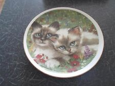 Decorative Plate Cute Blue Eyed Cats By Royal Vale KITTENS+CATS THEME