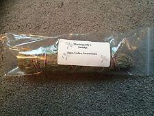 Sage  Cedar Sweet Grass Smudge Bundle Stick Large 8 - 11 inches