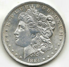 U.S.A. 1 Dolar Morgan 1884 Orleans @ Sin circular @ plata