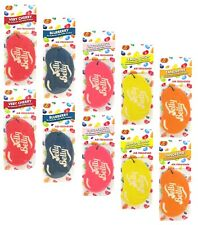 Jelly Belly Bean Sweets Hanging Card Car Air Freshener x 10 Assorted Fragrances