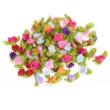100Pcs Mini Fabric Flowers Heads Handmade Roses DIY Craft For Wedding Decoration