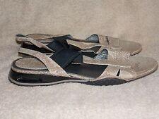 Cole Hann Nike Air  Tan SNAKE Flats Open Toe Slingback Sandals 11B Used