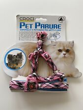 Croci Pet Dog Harness and Leash Set for Small Medium Dogs Cat Harnesses Pink