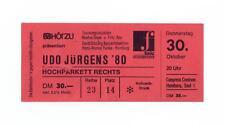 Udo Jürgens ´80 - altes Konzert-Ticket - Hamburg vom 30.10.1980 - Sammlerstück