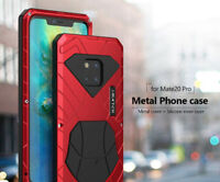 iMatch Shockproof Metal Back Cover Alu Case Kickstand for Huawei Mate 20 P30 Pro