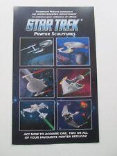 Star Trek brochure/sell sheet for Pewter Sculptures
