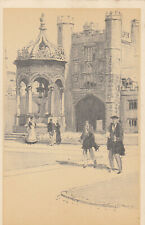CB89. Vintage Postcard. Cambridge. By Walter M Keesey. Trinity College