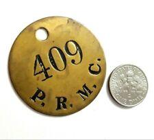 PLACA PRMC Fontanilla MUELLE y PLAYA DE PONCE Harbor Worker Tag 1940 PUERTO RICO