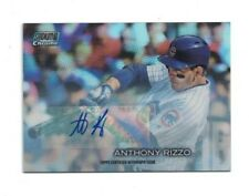 Anthony Rizzo 2018 Topps Stadium Club CHROME REFRACTOR AUTO Card /5 CUBS