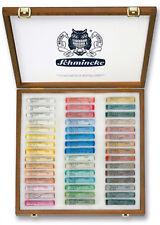 Schmincke suave Pastel Set - 45 colores del paisaje-conjunto de caja de presentación de madera
