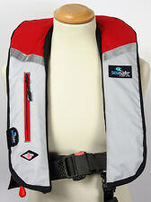 Automatic Two Tone Red Grey LifeJacket