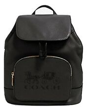 Coach Jes Horse and Carriage Backpack Leather Black Bag 90399