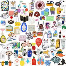 Cartoon Enamel Piercing Brooch Pin Collar Badge Corsage Decor Jewelry Women Gift