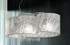 Lampadario contemporaneo design moderno bianco con paralume BELL onda 2113/L4L