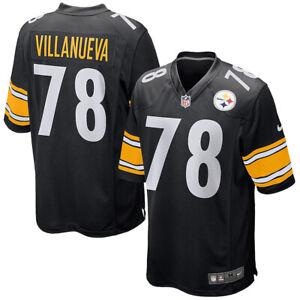 New 2021 NFL Pittsburgh Steelers Alejandro Villanueva Nike Game Player Jersey