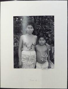 Amazon River Peru Jungle Yaqua Tribe Silver Gelatin Photo #6 Bora Mother & Son