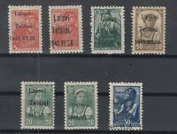 G3381/ LITHUANIA GERMAN OCC – MI # 1 / 6 MINT SIGNED – CV 190 $