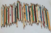 Vintage LOT of 52 Wooden ADVERTISING PENCILS Sharpened ~ Various Ages