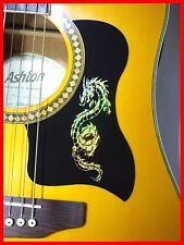 ACOUSTIC GUITAR PICKGUARD / SCRATCHPLATE SELF-ADHESIVE GOLD DRAGON DESIGN