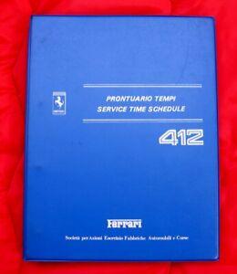Ferrari 412 - VERY RARE Service Time Schedule - Original 1986 Technical Manual