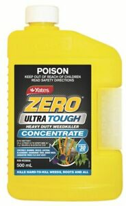 Zero Yates Ultra Tough Weedkiller 500ml Concentrate Rainproof in 30min