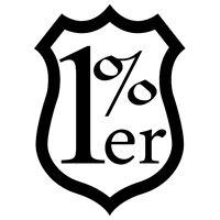 1% ER ONE PERCENT ANCHOR  CUSTOM HARLEY CHOPPER BIKE VINYL DECAL STICKER (O-01)