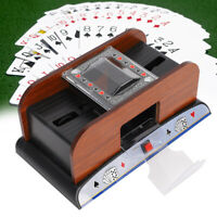 Automatic Card Shuffler Two Deck Playing Cards Sorter Poker Casino Game Tool PO