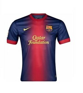 FC Barcelona Football T-Shirt Nike Home Blue Red DriFit Jersey NEU Klassik XS