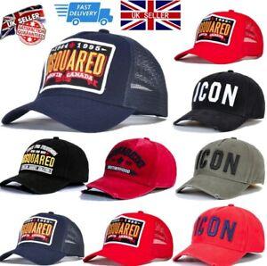 Dsquared2 Icon Baseball Cap Men's Women's DSQ2 Cap Snapback Meshback Hat
