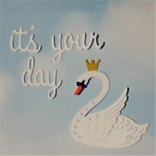 swan with crown cutting die set, cardmaking, scrapbooking, DIY crafts