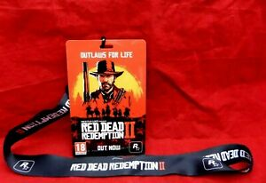 Red Dead Redemption II Promotional Lanyard - Not A Game - UK Seller