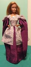 "Purple & White Floral Gown for 18"" Supersize Barbie or Tiffany Taylor SSLP110"