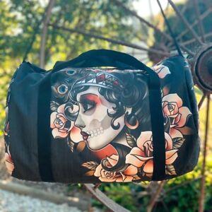 Liquorbrand Gypsy Rose Duffle Bag Alternative Tattoo Retro Rockabilly Duffel