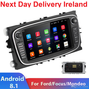 04G Android 8.1 2 Din Car Radio For Ford Focus S-Max Mondeo 9 Galaxy C-Max GPS